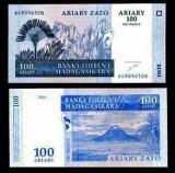 Bnk bn madagascar 100 ariary - 500 franci 2004 unc