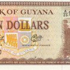 Bnk bn guyana 10 $ (1989) unc