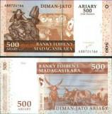 Bnk bn madagascar 500 ariary - 2500 franci 2004 unc