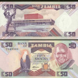 Bnk bn zambia 50 kwancha 1986-1988, necirculata