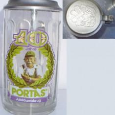 Halba din sticla cu capac din zinc (B)