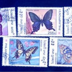 LAOS  - SERIE TIMBRE FLUTURI - B 23