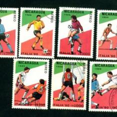 NICARAGUA - SERIE TIMBRE  FOTBAL  1989 - A 19