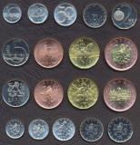 CEHIA SET COMPLET DE MONEDE 10+20+50 Haleru +1+2+5+10+20+50 Korun UNC, Europa