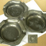 3 scrumiere din zinc marcat