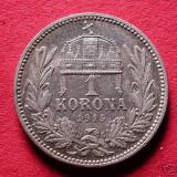 FRANZ JOSEPH 1848---1916 1 KORONA ARGINT 1915 KB, Europa