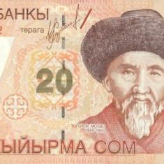 KYRGYZSTAN █ bancnota █ 20 Som █ 2002 █ P-19 █ UNC █ necirculata