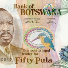 BOTSWANA █ bancnota █ 50 Pula █ 2005 █ P-28 █ UNC █ necirculata - bancnota africa