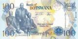 BOTSWANA █ bancnota █ 100 Pula █ 2005 █ P-29b █ UNC █ necirculata