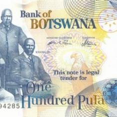 BOTSWANA █ bancnota █ 100 Pula █ 2005 █ P-29b █ UNC █ necirculata - bancnota africa