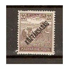 Timbre Ungaria 1918/*229 Seceratori cu supratipar