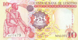 LESOTHO █ bancnota █ 10 Maloti █ 2006 █ P-15d █ UNC █ necirculata
