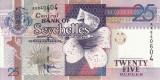 SEYCHELLES █ bancnota █ 25 Rupees █ 1998 █ P-37 █ UNC █ necirculata