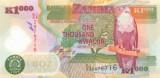 ZAMBIA █ bancnota █ 1000 Kwacha █ 2008 █ P-44f █ POLYMER █ UNC █ necirculata