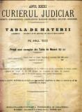 A100 Curierul Judiciar -Anul XXXI -Tabla de Materii -1922
