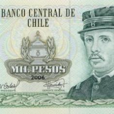 CHILE █ bancnota █ 1000 Pesos █ 2006 █ P-154g █ UNC █ necirculata