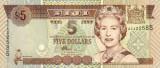 FIJI █ bancnota █ 5 Dollars █ 2002 █ P-105b █ UNC █ necirculata