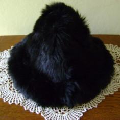 Caciula neagra din blana naturala - Caciula Dama