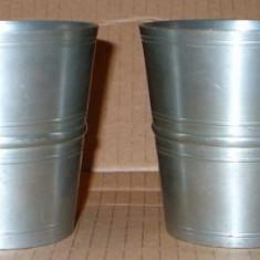 2 pahare din zinc marcat - Metal/Fonta