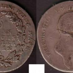Prusia 1/6 taler 1812 A