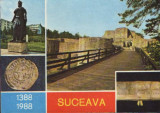 Ilustrata necirculata Suceava -Cetatea de Scaun 600 de ani