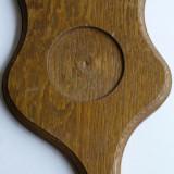 Suport din lemn pentru pahare din zinc - Metal/Fonta