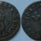 Double tournois 1638 Bordeaux - Moneda Medievala