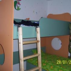 Pat, Pat etajat, Paturi etajate independente pentru copii - Pat supraetajat pentru copii, Albastru