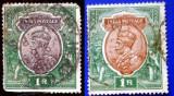 S2201 COLONII BRITANICE 1+1 v. INDIA 1 rupie !!! varietate de culoare, Asia, Regi