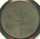 Italia 20 LIRE 1958