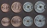 DANEMARCA SET DE MONEDE 25, 50 Ore, 1, 2 Kroner 2007 UNC, Europa