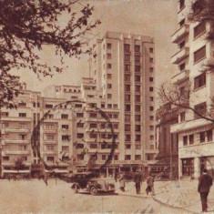 Bucuresti, bulevard cu masini de epoca, circulat 1940 - Carte Postala Muntenia dupa 1918