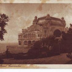 Constanta, cazino, circulat, 1925 - Carte Postala Dobrogea dupa 1918