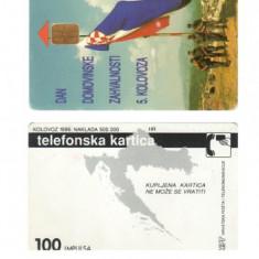 CARTELA TELEFON PUBLIC DIN CROATIA - PENTRU COLECTIONARI ** - Cartela telefonica straina