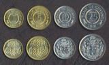 GUYANA █ SET DE MONEDE █ 1, 5, 10, 25 Cents █ 1989-1992 █ UNC, America Centrala si de Sud