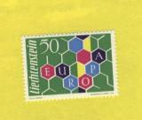ST-05=LIECHTENSTEIN EUROPA FAGURELE 1960 Mi 398 SARNIERA, Elvetia, Nestampilat