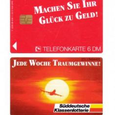 GERMANIA 6 DM 1993 TIRAJ MIC 9.500 EX. ** - Cartela telefonica straina