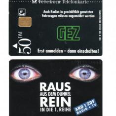 GERMANIA 50 DM 1993 ARD UND ZDF RADIO + TV - PENTRU COLECTIONARI ** - Cartela telefonica straina