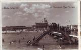 2196 Constanta,plaja cu topogan,foto,circulat 1936
