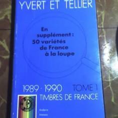 Catalog Yvert et Tellier 1990 - TIMBRE - FRANTA