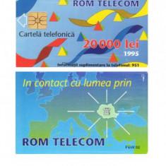 CARTELA ROMANIA 20.000 LEI 1995 1 – PENTRU COLECTIONARI ** - Cartela telefonica romaneasca
