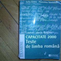 F.Sanmihaian;S.Dobra -Teste de lb. romana.CAPACITATE 2000 - Manual scolar humanitas, Humanitas