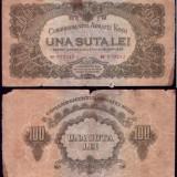 * Bancnota 100 lei Armata Rosie - Bancnota romaneasca