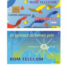 CARTELA ROMANIA 20.000 LEI 1995 2 - PENTRU COLECTIONARI ** - Cartela telefonica romaneasca