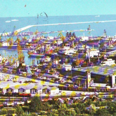 V6 Portul Constanta Nave circulat 1971 - Carte Postala Dobrogea dupa 1918