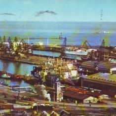 V7 Portul Constanta Nave circulat 1968 - Carte Postala Dobrogea dupa 1918