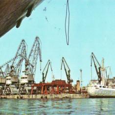 V9 Portul Constanta Nave circulat 1968 - Carte Postala Dobrogea dupa 1918