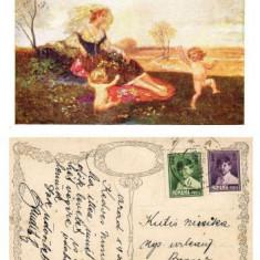 ILUSTRATA VECHE NR. 5 - DIN 1930 - THE JOYS OF SPRING - BUCURIA PRIMAVERII **, Circulata