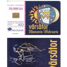 CARTELA ROMANIA ROMTELECOM ZODII - VARSATOR - PENTRU COLECTIONARI ** - Cartela telefonica romaneasca