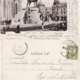 Cluj - Statuia lui Matei Corvin - clasica 1903